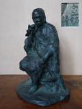 神農像 伊藤宣郎作 医薬と農業を司る神 古代中国 三皇五帝 s-686
