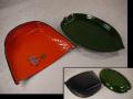 塗物 菓子器2点 桜文てみ形菓子皿と笹の葉形菓子皿 k-360