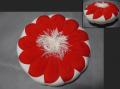 古布 細工物 紅白縮緬 小物用座布団 敷物 n-80