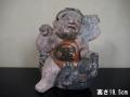 時代 土人形 熊と金太郎 江戸~明治 坂田の金時 端午の節句 民芸 s-707