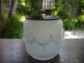 茶道具 硝子 水指 幻想的な涼感 粉雪と氷の世界 美品 g-165