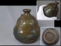 古瀬戸 小ぶりな徳利 釉薬の景色と手に馴染む自然な造形 酒器 無傷完品   t-1860