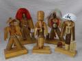 古い越前竹人形 修厚作鬼女など5点 郷土人形 郷土玩具 民芸 s-725