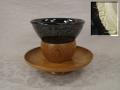 茶道具 瀬戸天目茶碗と貴人台 t-1877