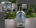 アンティークガラス ボトル カラフェ エナメル彩 ヨット 夏の海  g-172