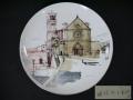 小磯良平 「サンフランチェスコ寺院」 陶板画 飾り皿 NARUMI CHINA  アートデザイン t-1900