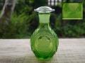 北一硝子 エメラルドグリーン 液だれしない醤油差し 小樽 昭和レトロ g-178