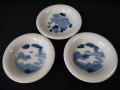 平戸焼 豆皿3客 雄大な富士と龍・獅子文 t-1927