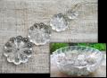 アンティークガラス シャンデリアパーツ フラワー菊花形 大小4種 50個以上多数 ガラス鉢付y0911